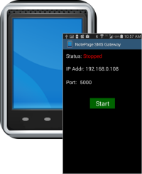 NotePage Android SMS Gateway